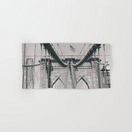 Brooklyn bridge, architecture, vintage photography, new york city, NYC, Manhattan view Hand & Bath Towel
