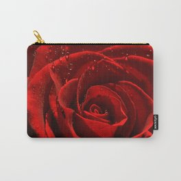 Red Rose with water drops 93 Carry-All Pouch