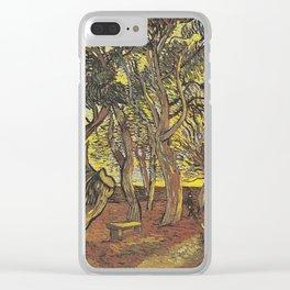 Vincent Willem Van Gogh Garden at Hospital Saint Paul 1889 Clear iPhone Case