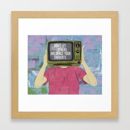 Influence Your Thoughts Framed Art Print