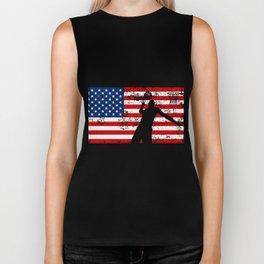 USA American Flag Basketball Basketball Player Gift Biker Tank