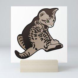 Sad Kitty Mini Art Print