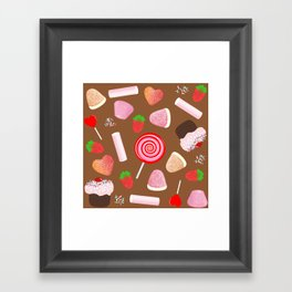Candies pattern Framed Art Print
