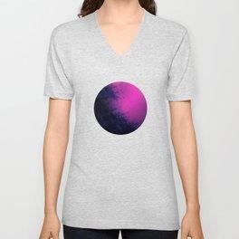 Blue and Purple Unisex V-Neck