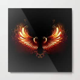 Fire Wings Metal Print