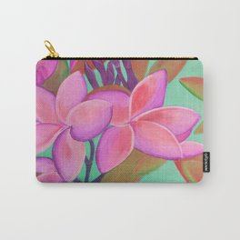 Pink Flowers Pink Carry-All Pouch