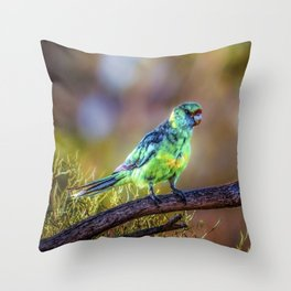 Mallee Ringneck Parrot Throw Pillow