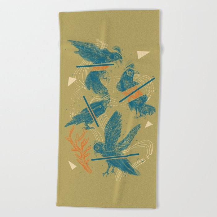 ravens comp Beach Towel