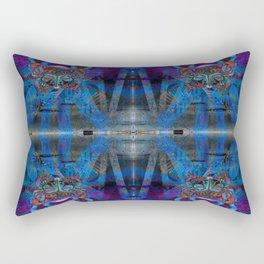 Butterfly mask geometry Rectangular Pillow