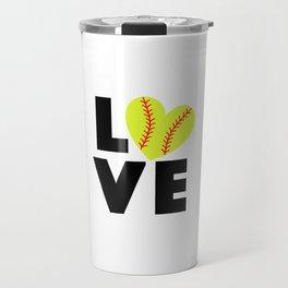 Love Softball Travel Mug