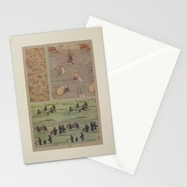 Verneuil - Japanese paper and fabric designs (1913) - 30: Ferns, characters, night scenes Stationery Cards