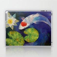 Tancho Koi and Water Lily Laptop & iPad Skin