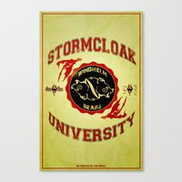 skyrim Canvas Prints featuring Stormcloak University(Skyrim) by Chubbybuddhist