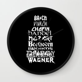 Composers Wall Clock