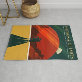 Vintage Adventure Travel Phobos and Deimos Rug