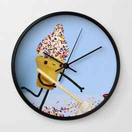 Sprinkle Cleaning Wall Clock