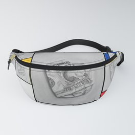 Handmade sketches and Piet Mondrian Concept of Art! Fanny Pack