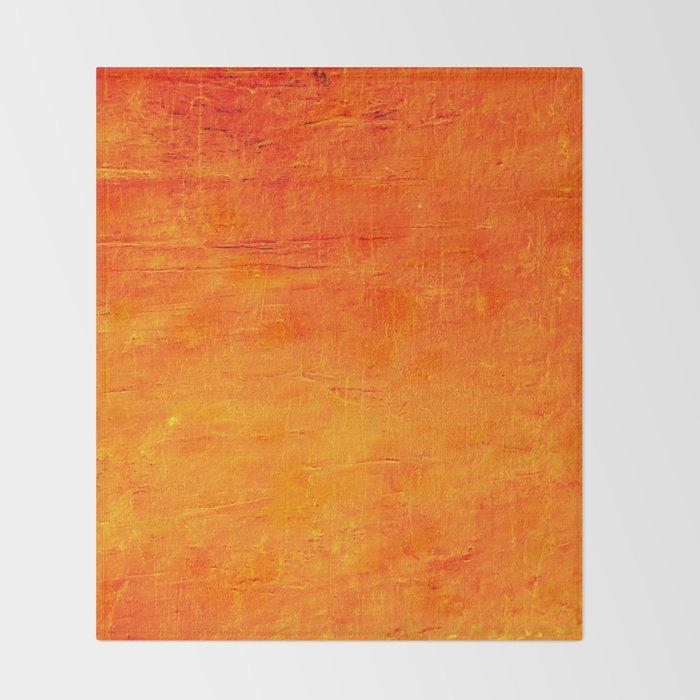 Orange Sunset Textured Acrylic Painting Decke