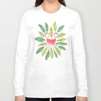 dorothy Long Sleeve T-shirts featuring Flamingos by Cat Coquillette