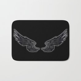 Black Angel Wings Bath Mat