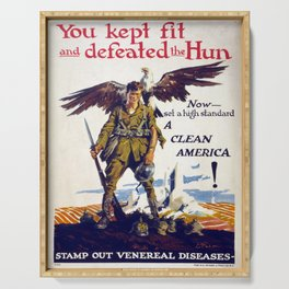 Vintage poster - Stamp Out Venereal Diseases Serving Tray