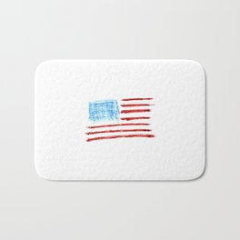Flag of Usa Chalk version- america,us,united states,american,spangled,star and strips Bath Mat