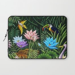 Classical Masterpiece 'Tropical Birds and Flying Things' by Henry Rousseau Laptop Sleeve
