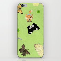 Butterfly watching iPhone & iPod Skin