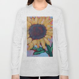 Blue Sunflower Long Sleeve T-shirt