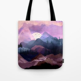 Misty Mountain Morning Tote Bag