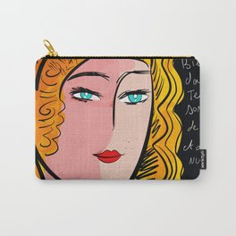 French Art Portrait with Poetry Carry-All Pouch