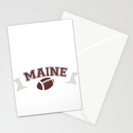 Just a Baller from Maine Football Player Stationery Cards