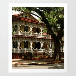 Gingerbread House Art Print