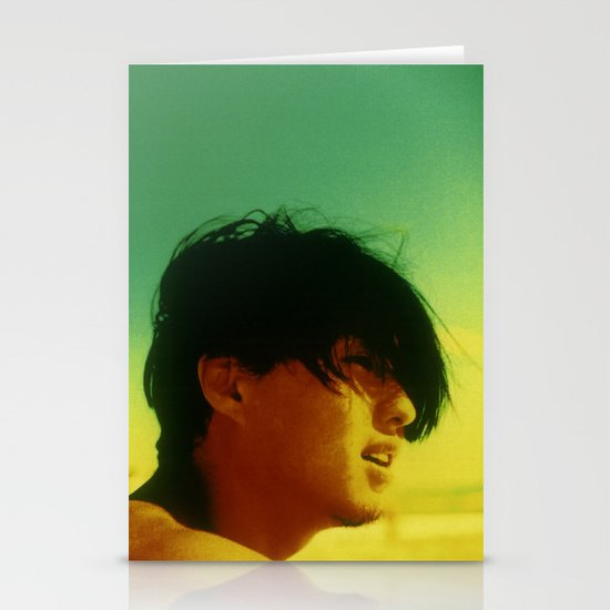 Asian Green and Yellow Stationery Cards