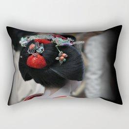 Geisha Maiko Photograph Rectangular Pillow