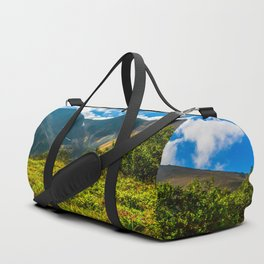 Vicinity of the volcano Vachkazhets Duffle Bag