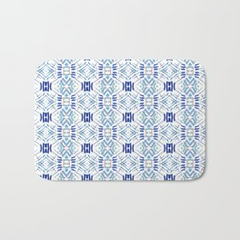 Asian Blue - inspired by Japanese textiles Bath Mat