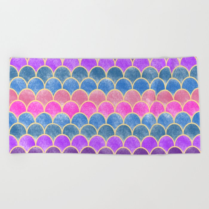 Lovely Pattern VI (Glitter Version) Beach Towel