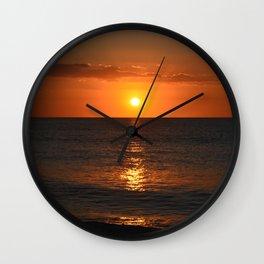 Dark Sunset Wall Clock
