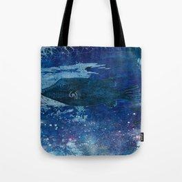 Cosmic fish, ocean, sea, under the water Tote Bag