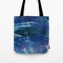 Cosmic fish, ocean, sea, under the water Tote Bag