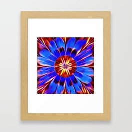 Feather Flower Framed Art Print