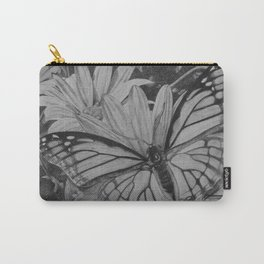 Monarch over Aster Carry-All Pouch