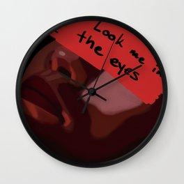Before you kiss my lips Wall Clock