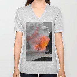 Lava Meets Ocean Unisex V-Neck