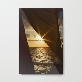 Sunset from the boat Metal Print