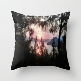 Solemn Sunset  Throw Pillow