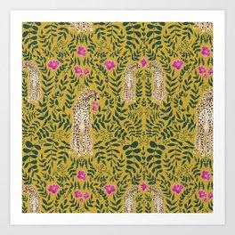 Jungle Fever - Mustard Art Print