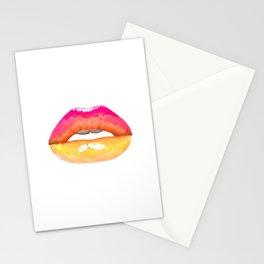 Labios arco iris Stationery Cards