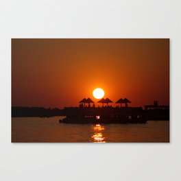Sunset Cruise on Zambezi Canvas Print